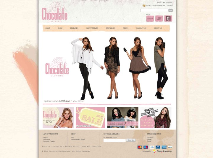 chocolate-clothing-website